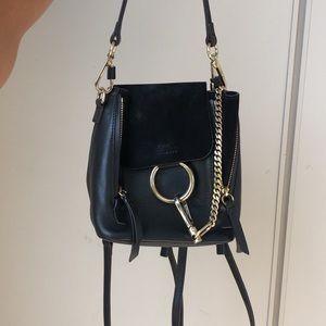 CHLOE black Mini Backpack